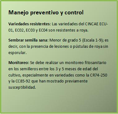 Manejo preventivo y control