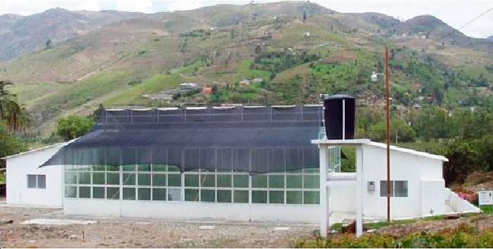 """Vista general de la estación de cuarentena cerrada localizada en la Estación Experimental """"Bullcay"""" del INIAP (Km. 28 de la vía Cuenca – Gualaceo)."""